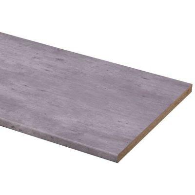 Werkblad grijs industrieel 182 x 60 cm